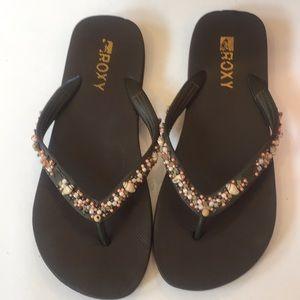 Roxy Seashells Flip Flip Size 10